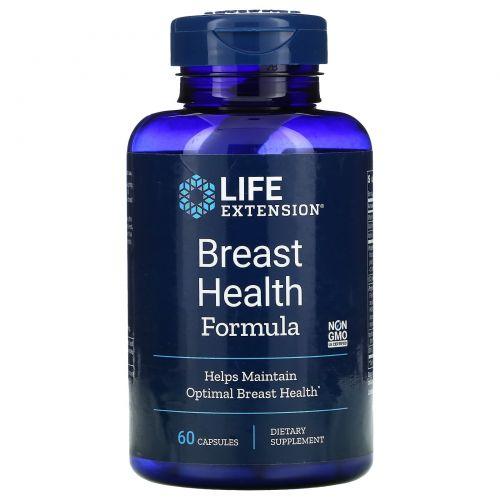 Life Extension, Состав для здоровья молочных желез, 60 капсул.