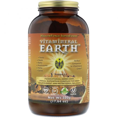 HealthForce Nutritionals, Комплекс Vitamineral Earth V.3.2, 17,65 унций (500 г)