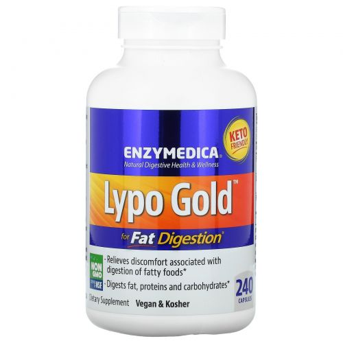 Enzymedica, Lypo Gold, 240 капсул
