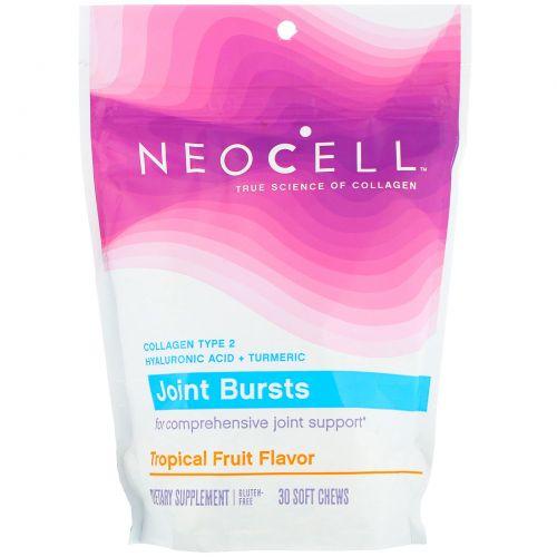 """Neocell, """"Суставный прорыв"""", мягкие жевательные пастилки для поддержания здоровья суставов с острым тропическим вкусом, 30 мягких жевательных пастилок"""