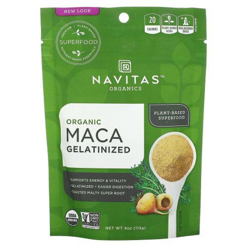 Navitas Organics, Желатинированный порошок Maca, 4 унции (113 г)