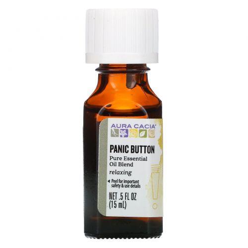 Aura Cacia, Panic Button, 5 жидкий унций (15 мл)