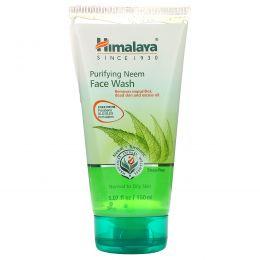 Himalaya, Средство для лица с очищающим нимом, для нормальной и жирной кожи, 5,07 ж. унц.(150 мл)