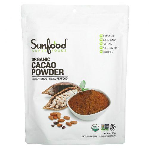 Sunfood, Органически порошок какао, 8 унций (227 г)