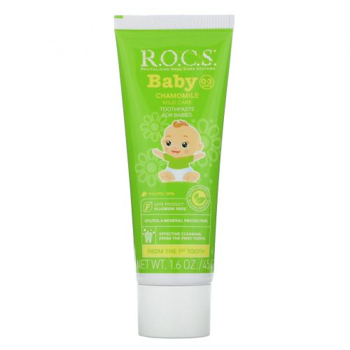 R.O.C.S. , Baby, Chamomile Toothpaste, 0-3 Years, 1.6 oz (45 g)