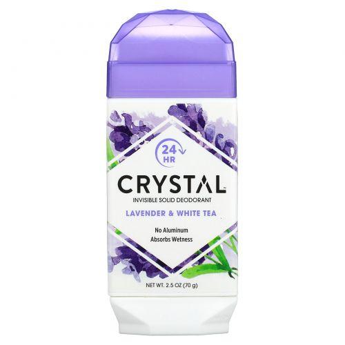 Crystal Body Deodorant, Натуральный дезодорант, лаванда и белый чай, 2,5 унц. (70 г)