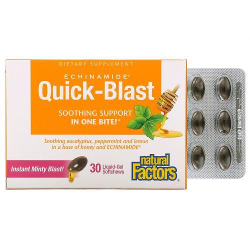 Natural Factors, Quick-Blast, Instant Minty Blast, 30 Liquid Gel Softgels