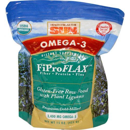 Health From The Sun, Омега-3, FiProFlax, 15 унций (425 г)