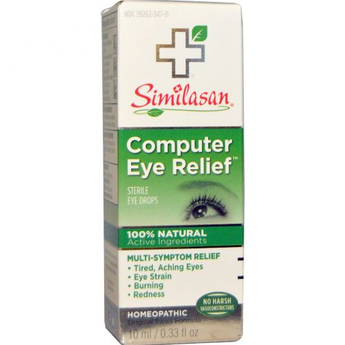 Similasan, Профилактика зрения при работе с компьютером, Стерильные капли для глаз, 0,33 жидких унции (10 мл)