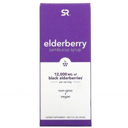 Sports Research, Elderberry Sambucus Syrup, 12,000 mg, 4 fl oz (120 ml)