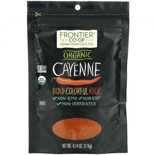 Frontier Natural Products, Organic Cayenne, 6.14 oz (174 g)