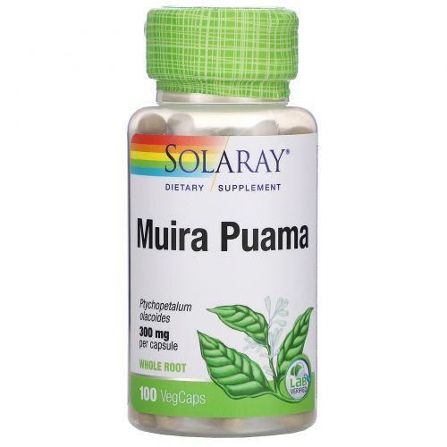 Solaray, Muira Puama, 300 mg, 100 VegCaps