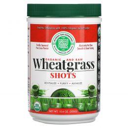 Green Foods Corporation, Органические и сырые, побеги пшеницы и трав, 300 г