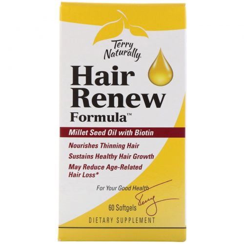 EuroPharma, Terry Naturally, Terry Naturally, Hair Renew Formula, формула восстановления волос, 60 желатиновых капсул