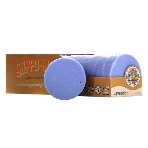 Sappo Hill, Глицериновое крем-мыло, лавандовое, 12 кусков по 3,5 унции (100 г)
