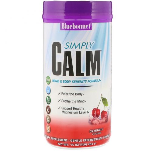 Bluebonnet Nutrition, Simply Calm, Cherry Flavor, 16 oz (454 g)