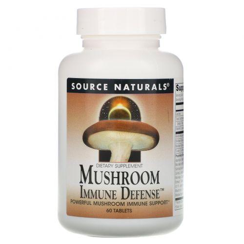 Source Naturals, Грибная иммунная защита, комплекс из 16 грибов, 60 таблеток