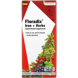 Gaia Herbs, Floradix, Iron + Herbs, 23 fl oz (700 ml)
