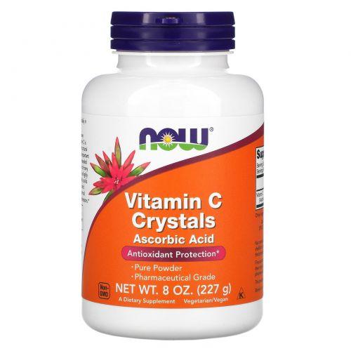 Now Foods, Витамин C в кристаллах, 8 унций (227 г)