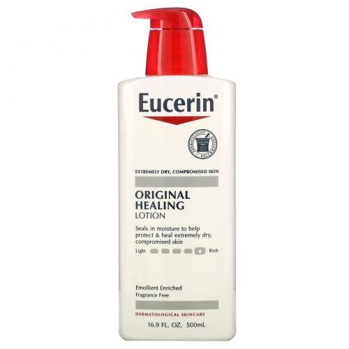 Eucerin, Оригинальный восстанавливающий лосьон с успокаивающим действием, без ароматизаторов, 16,9 унции (500 г)