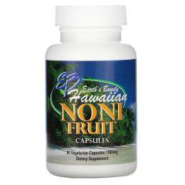 Earth's Bounty, Плоды гавайского нони, 500 мг, 60 растительных капсул
