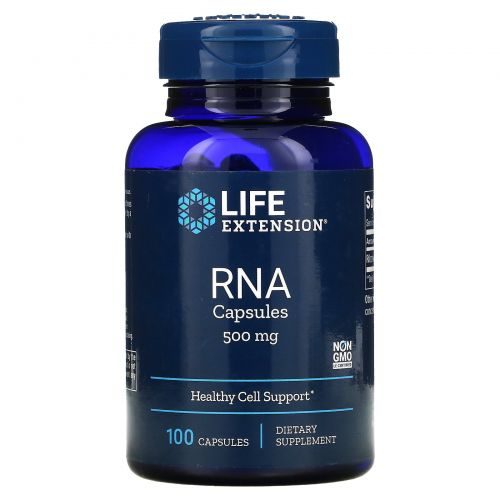 Life Extension, Капсулы с РНК, 500 мг, 100 капсул