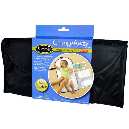 Summer Infant, ChangeAway, переносной набор пеленок, с рождения, 61 см x 33 см