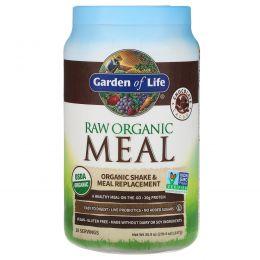 Garden of Life, Натуральный заменитель пищи из необработанной продукции, вкус шоколада и какао, 2.7 фунтов (1.2 кг)