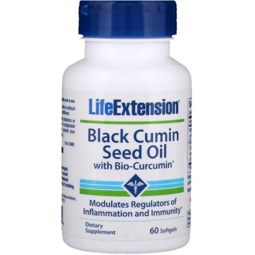 Life Extension, Black Cumin Seed Oil with Bio-Curcumin, 60 Softgels