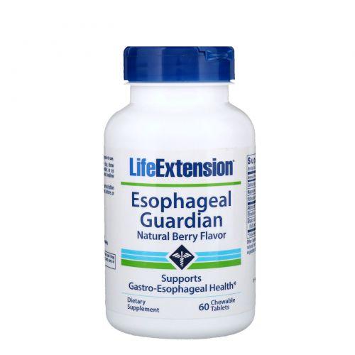 Life Extension, Esophageal Guardian, защита пищевода с натуральным ягодным вкусом, 60 жевательных таблеток