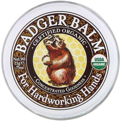 Badger Company, Badger, бальзам для рабочих рук .75 унции (21 г)