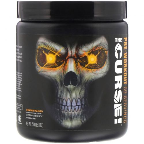 Cobra Labs, The Curse, Pre Workout, Orange Mango Flavor, 0.55 lbs (250 g)