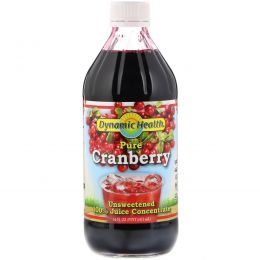 Dynamic Health  Laboratories, Pure Cranberry, 100% Juice Concentrate, Unsweetened, 16 fl oz (473 ml)