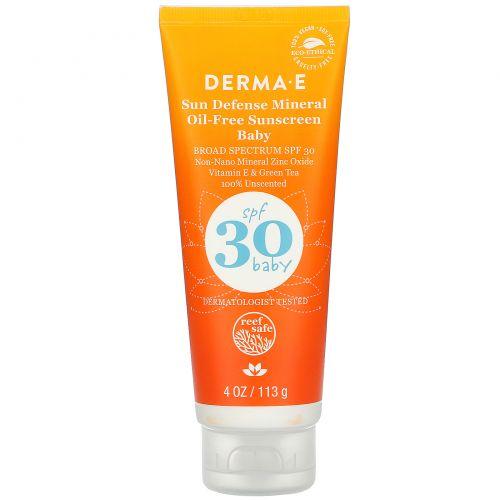 Derma E, Baby, Sun Defense Mineral Oil-Free Sunscreen, SPF 30, 4 oz (113 g)