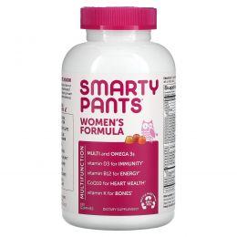 SmartyPants, Полный мультивитаминный комплекс для женщин + омега-3 + Витамин K2, 180 жевательных конфет