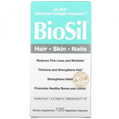 BioSil by Natural Factors, BioSil, ch-OSA Advanced Collagen Generator, 120 вегетарианских капсул