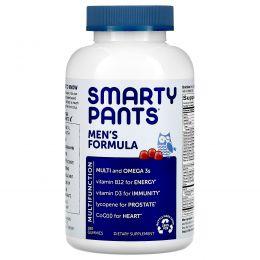 SmartyPants, Мужские полные мультивитамины + Омега 3с + кофермент Q10, 180 желатиновых конфет
