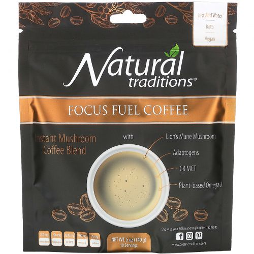 Organic Traditions, Focus Fuel Coffee, 5 oz (140 g)