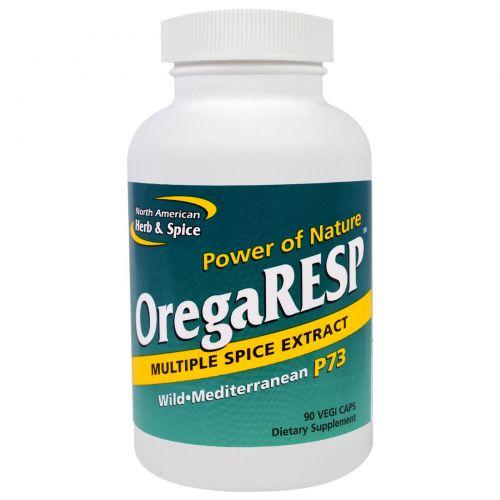 North American Herb & Spice Co., OregaResp, экстракт нескольких специй, 90 капсул на растительной основе