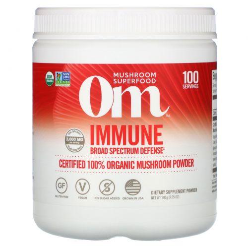 Organic Mushroom Nutrition, Иммунитет, грибной порошок, 7.14 унций (200 г)