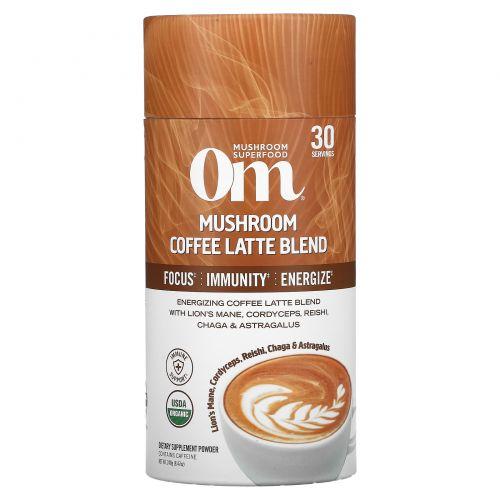 Om Mushrooms, Mushroom Coffee Latte Blend, 8.47 oz (240 g)