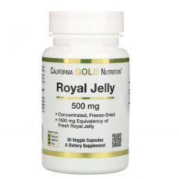 California Gold Nutrition, Маточное молочко, 500 мг, 30 капсул в растительной оболочке