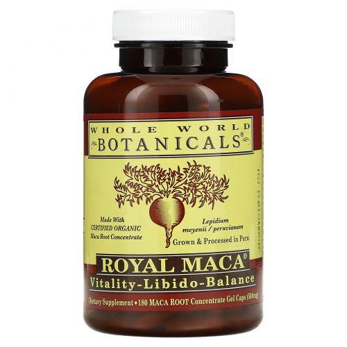 Whole World Botanicals, Королевская мака, 500 мг, 180 гелевых капсул