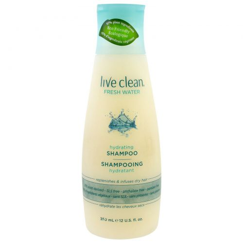 Live Clean, Hydrating Shampoo, Fresh Water, 12 fl oz (350 ml)