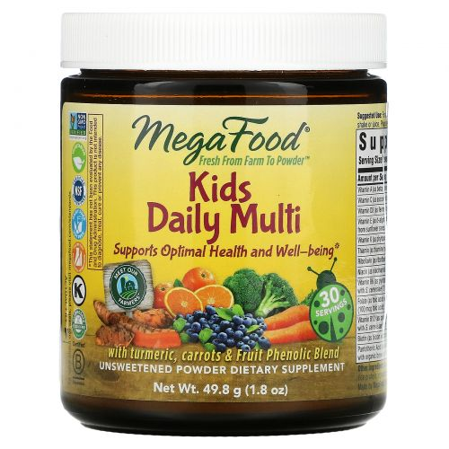 MegaFood, Добавка «Ежедневный мультивитамин для детей», 1,8 унции (49,8 г)