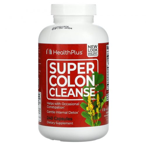 Health Plus Inc., Super Colon Cleanse, 500 мг, 240 капсул