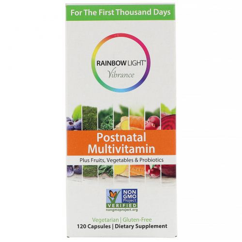 Rainbow Light, Vibrance, мультивитамины для послеродового периода, 120капсул