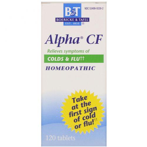 Boericke & Tafel, Пищевая добавка «Альфа CF», 120 таблеток