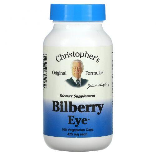 Christopher's Original Formulas, Черника для глаз, 450 мг, 100 растительных капсул