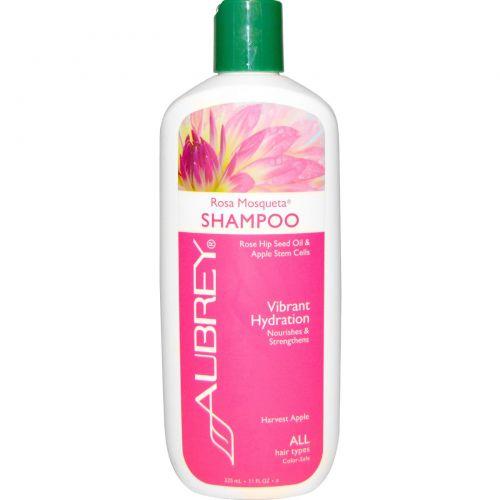 Aubrey Organics, Увлажняющий шампунь с мускусной розой, для всех типов волос, 11 жидких унций (325 мл)